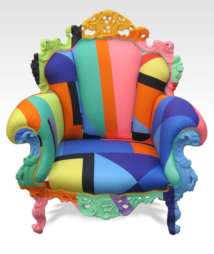 fauteuil proust geometrica par alessandro mendini musee des arts decoratifs et du design de. Black Bedroom Furniture Sets. Home Design Ideas