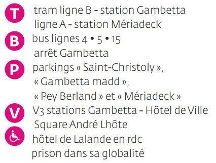 Carte Tram Bordeaux Demandeur Demploi.Informations Pratiques Musee Des Arts Decoratifs Et Du Design De