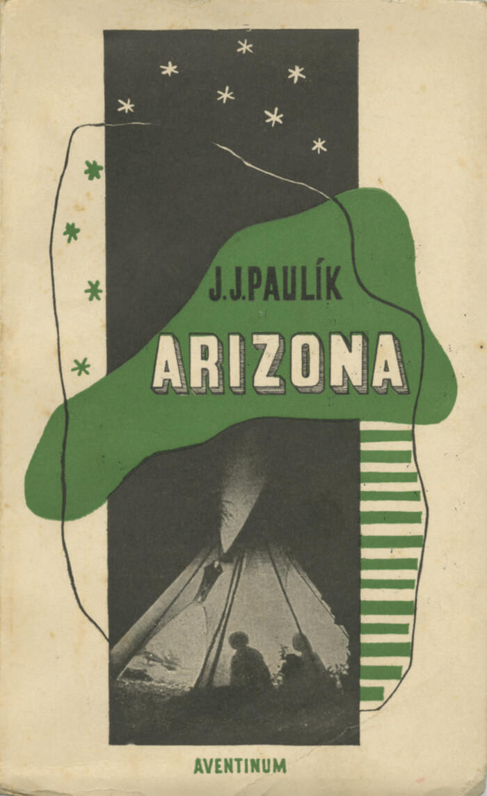 "František Muzika, couverture pour ""Arizona"" (Arizona) de Jaroslav Jan Paulík<br/> - éd. Aventinum, Prague, 1928 Collection Pierre Ponant"