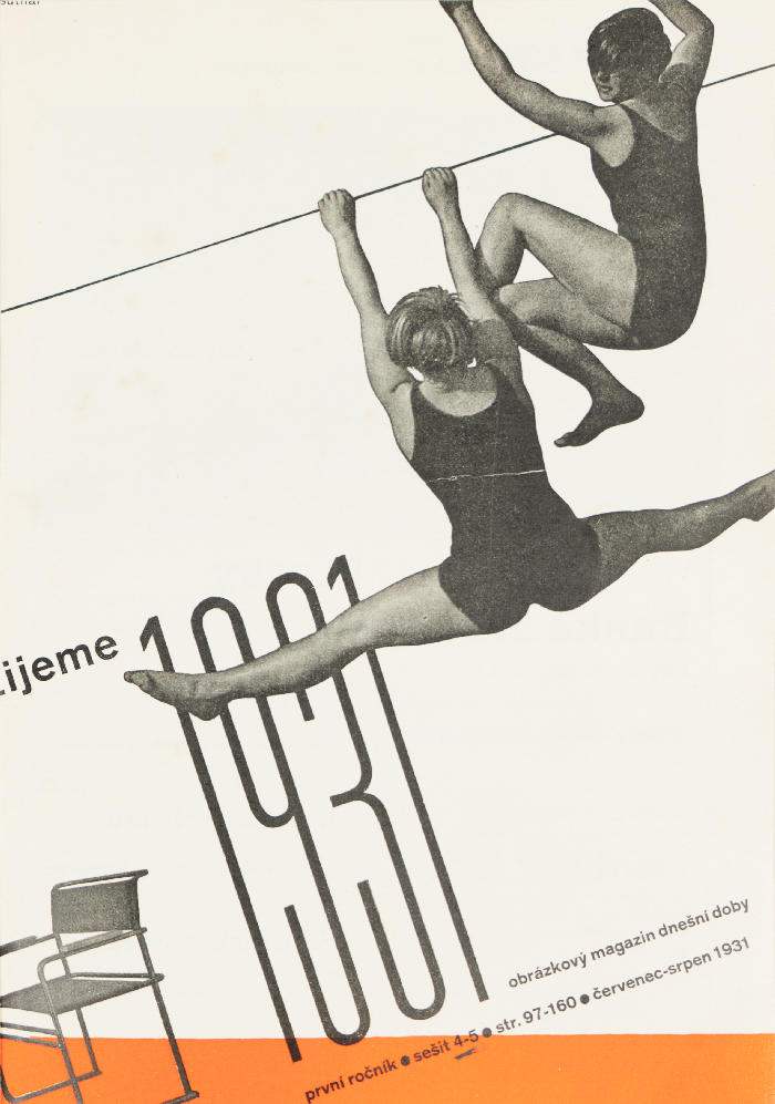 Ladislav Sutnar, detail of the magazine front cover Zijeme, july - august 1931<br/> - Pierre Ponant collection