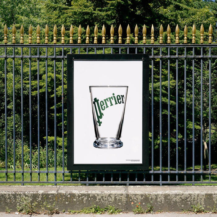 Martin Szekely, verre Perrier, 1996<br/> © madd-bordeaux - I.Gaspar Ibeas - Perrier, Groupe Nestlé Waters